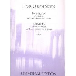 Staeps, Hans Ulrich: Herbstlied : für 3 Blockflöten (SAT) und Gitarre Partitur und Stimmen