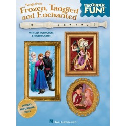 Songs from Frozen, Tangled and Enchanted: for soprano recorder (with lyrics)