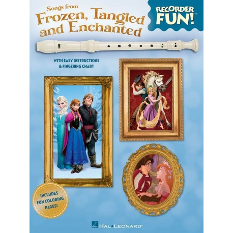 Songs from Frozen, Tangled and Enchanted : for soprano recorder (with lyrics)