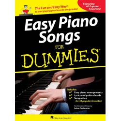 Easy Piano Songs for Dummies : for piano (with lyrics and chords)