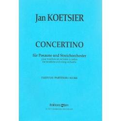 Koetsier, Jan: Concertino op.91 : f├╝r Posaune und Streichorchester Partitur