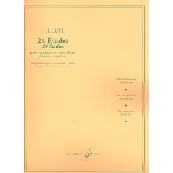 Luft, Julius Heinrich: 24 études : pour hautbois ou saxophone