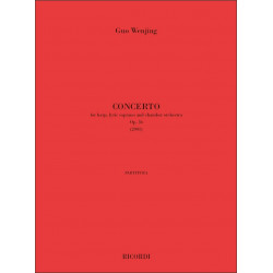 Guo, Wenjing: Concerto op.6 : for soprano, harp and orchestra score (chin/en)