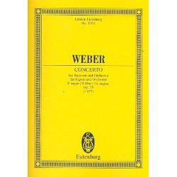 Weber, Carl Maria von: Konzert F-Dur op.75 : für Fagott und Orchester Studienpartitur