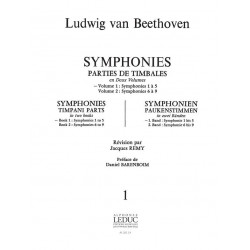 Beethoven, Ludwig van: SYMPHONIES : PARTIES DE TIMBALES : VOLUME 1, SYMPHONIES 1 A 5 REMY, JACQUES, ED BJ