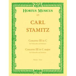 Stamitz, Karl: Konzert C-Dur Nr.3 : für Violoncello und Orchester Partitur