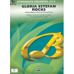 Estefan, Gloria: Gloria Estefan rocks: for orchestra sascore and parts (strings 8-8-5--5-5-5)