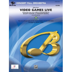Suite from Video Games Live: for orchestra score and parts (strings 8-8-5-5-5)