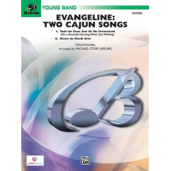 Evangeline - 2 Cajun Songs : for concert band score and parts