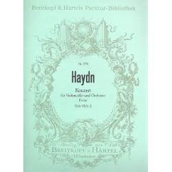 Haydn, Franz Joseph: Konzert D-Dur Nr.1 Hob.VIIB:2 : f├╝r Violoncello und Orchester Partitur