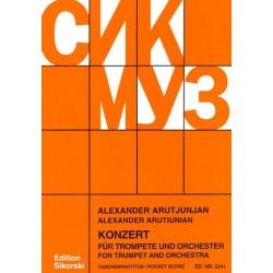 Arutjunjan, Alexander: Konzert : für Trompete und Orchester Studienpartitur