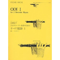 Hirose, Ryohei: Ode 1 : for 2 recorder players B(A)B(T) score