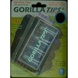 Gorilla Tips Finger Protectors clear Size M