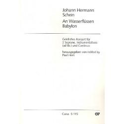 Schein, Johann Hermann: An Wasserflüssen Babylon : für 2 Soprane und Baßinstrument Partitur (dt)