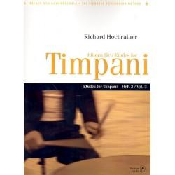 Hochrainer, Richard: Etüden Band 3 für Timpani