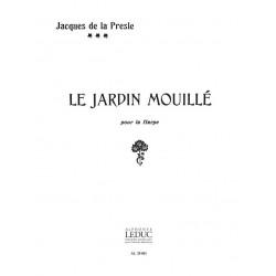 Presle, Jacques de la: Le jardin mouillé : pour harpe
