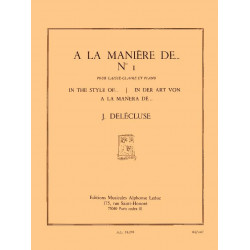 Delécluse, Jacques: A la manière de...no.1 : pour caisse-claire et piano