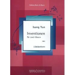 Yun, Isang: Inventionen : für 2 Oboen Spielpartitur