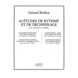 Berlioz, Gerard: 60 études de rythme et de déchiffrage pour 2 tom-toms ou 2 timbales