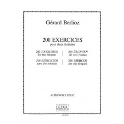 Berlioz, Gerard: 200 exercices pour 2 timbales