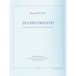 Boutry, Roger: Divertimento : pour saxophone alto et orchestre d'harmonie partition et parties