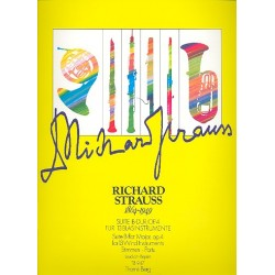 Strauss, Richard: Suite B-Dur op.4 : für 13 Blasinstrumente Stimmen