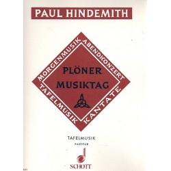Hindemith, Paul: Plöner Musiktag B Tafelmusik für Flöte, Trompete und Streicher Partitur