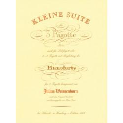 Weissenborn, Julius: Kleine Suite : für 3 Fagotte oder Fagott und Klavier Partitur und 4 Stimmen