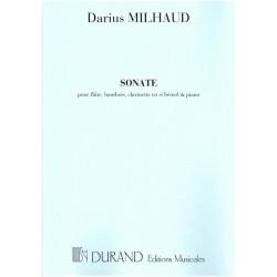 Milhaud, Darius: Sonate op.47 : pour flûte, hautbois clarinette et piano