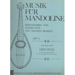 Ochi, Takashi: 3 Duos nach altjapanischen Melodien : f├╝r 2 Mandolinen Spielpartitur