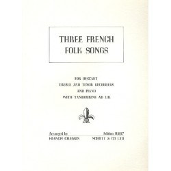 3 french Folk Songs : for 3 recorders (SAT) and piano