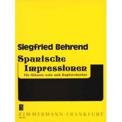 Behrend, Siegfried: Spanische Impressionen : f├╝r Gitarre und Zupforchester Partitur