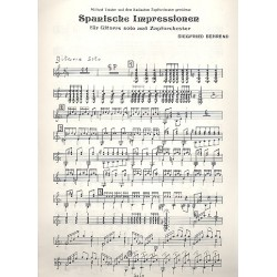 Behrend, Siegfried: Spanische Impressionen : f├╝r Gitarre und Zupforchester Gitarre Solostimme