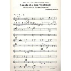 Behrend, Siegfried: Spanische Impressionen : für Gitarre und Zupforchester Mandoline 1