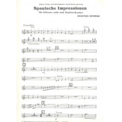 Behrend, Siegfried: Spanische Impressionen : f├╝r Gitarre und Zupforchester Mandola