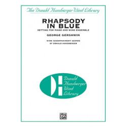 Gershwin, George: Rhapsody in Blue for piano and wind ensemble score
