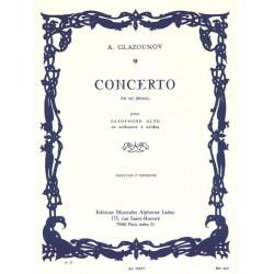 Glasunow, Alexander: Concerto mi bemol majeur op.109 : pour saxophone alto et orchestre à cordes, partition