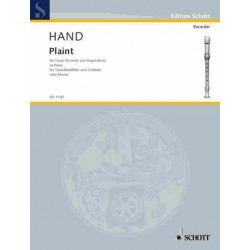 Hand, Colin: Plaint : for tenor recorder and harpsichord (piano)
