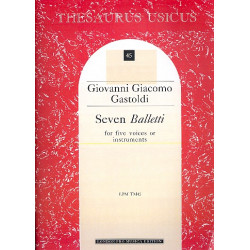 Gastoldi, Giovanni Giacomo: 7 balletti 1596 for 5 voices or instruments score (it)