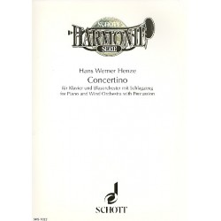 Henze, Hans Werner: Concertino : Klavier und Blasorchester mit Schlagzeug Partitur