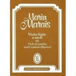 Marais, Marin: Suite a-Moll Nr.4 : für Viola da gamba und Cembalo Partitur und 2 Stimmen