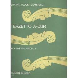 Zumsteeg, Johann Rudolf: Terzetto A-Dur : per 3 violoncelli Partitur und Stimmen