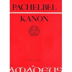 Pachelbel, Johann: Kanon : für 3 Violinen und Baß Partitur und Stimmen