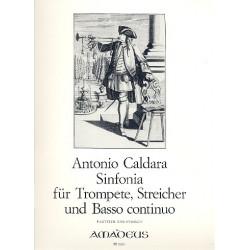 Caldara, Antonio: Sinfonia : für Trompete, Streicher und Bc