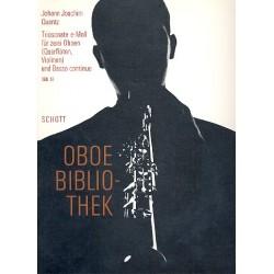 Quantz, Johann Joachim: Triosonate e-Moll : f├╝r 2 Oboen und Bc