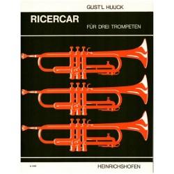 Huuck, Gustl: Ricercar : für 3 Trompeten Partitur