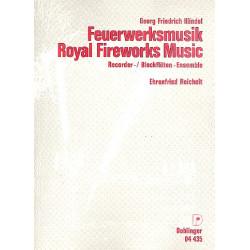 Händel, Georg Friedrich: Feuerwerksmusik : für Blockflötenensemble und Pauken ad lib Partitur und Stimmen