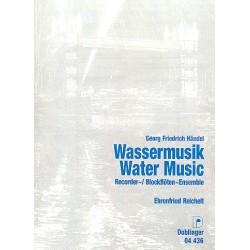 Händel, Georg Friedrich: Wassermusik : für Blockflöten- ensemble, Cembalo ad lib. Partitur und Stimmen