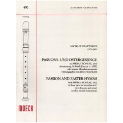 Praetorius, Michael: Passions- und Ostergesänge aus Musae Sioniae (1910) : für 3 Blockflöten (SST) Spielpartitur