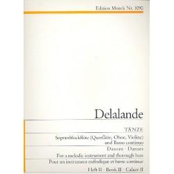 Lalande, Michel Richard de: Tänze Band 2 : für Sopranblockflöte (Flöte, Oboe, Violine) und Bc